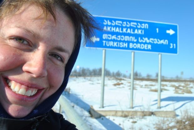 I spent eight months in former USSR before crossing into Turkey. The day I took this photo felt monumental.