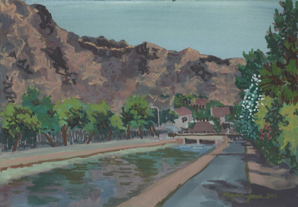 Arizona Canal Looking Toward Piestewa Peak