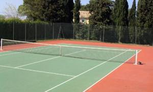 France-villa tennis court