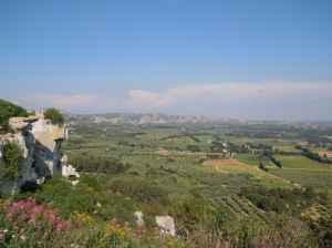 tgv (train a grande vitesse)-Provence landscape window view