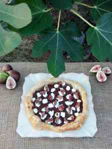 goat cheese, fig, and prosciutto galette