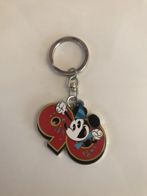 mickey mouse 90 keyring