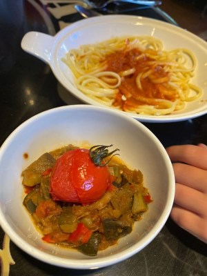 Pasta and Ratatouille Bistrot Chez Remy