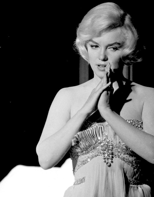 Marilyn during the filming of Let's Make Love in 1960.