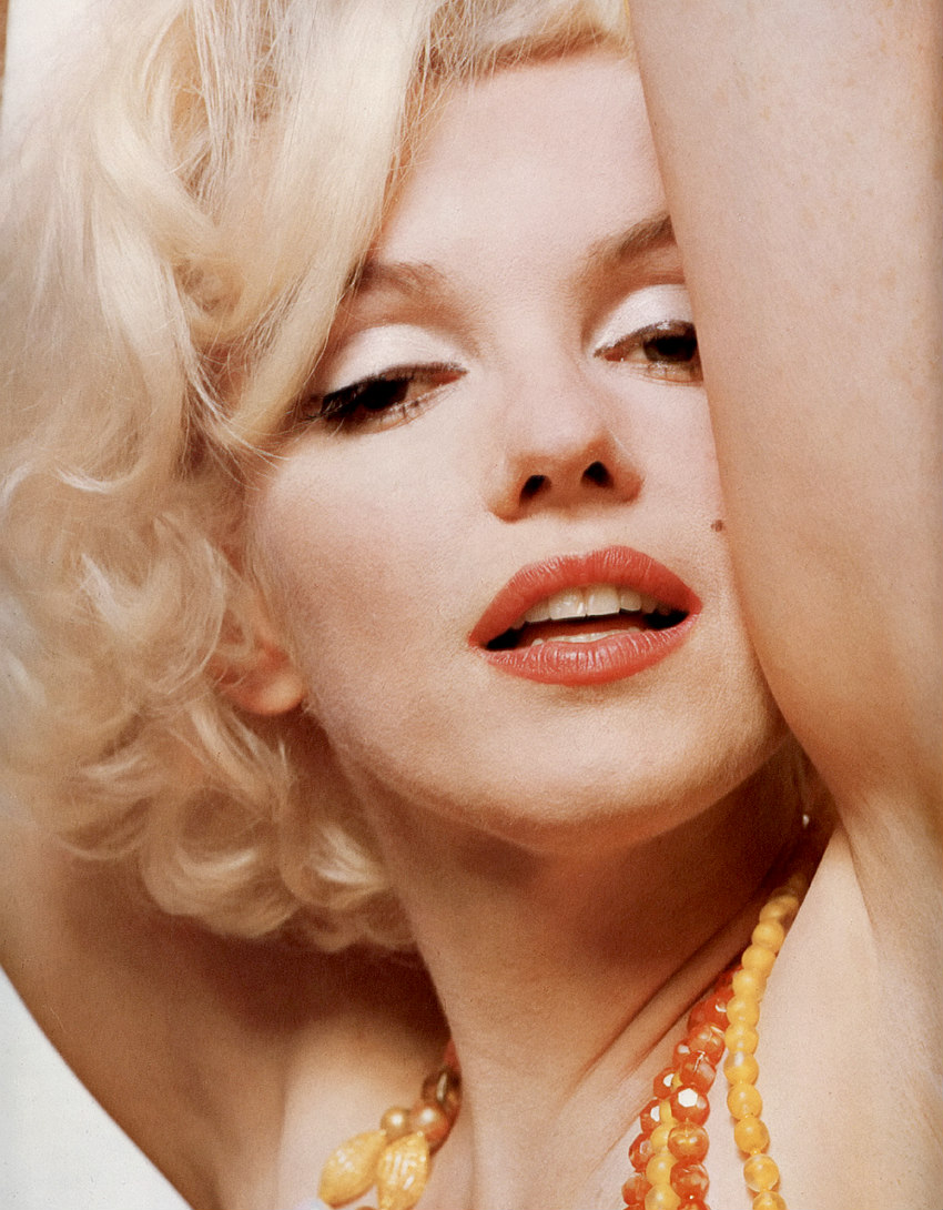 Marilyn photographed by Bert Stern in June 1962.