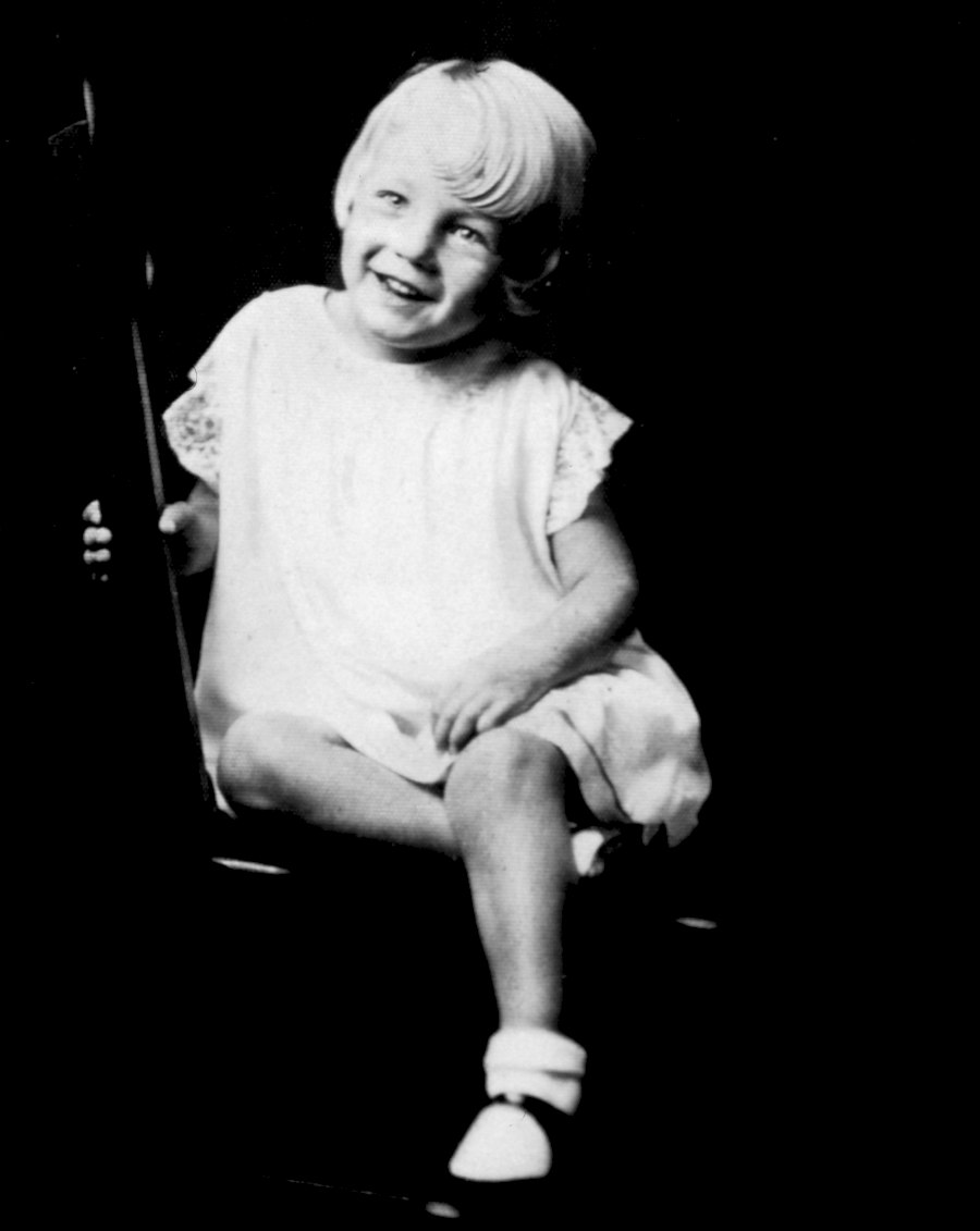 Baby Marilyn, then known as Norma Jeane Baker in 1929.