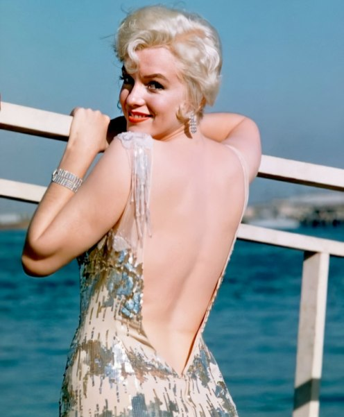 Marilyn during the filming of Some Like It Hot by Richard Miller in October 1958.