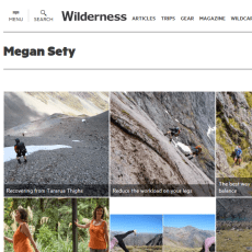 Megan Sety author page at Wilderness Magazine website