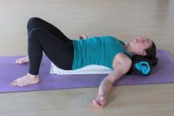 Example of pose in restorative yoga classes