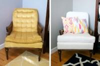 Before & After: Grandmas Old Chair Reupholstered  Megan ...