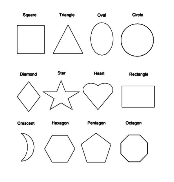 Activitati pentru copii Pictează Planşe cu forme geometrice