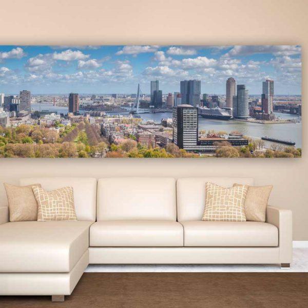 Skyline Rotterdam Bild  Moderne Fotografie aus der tollen