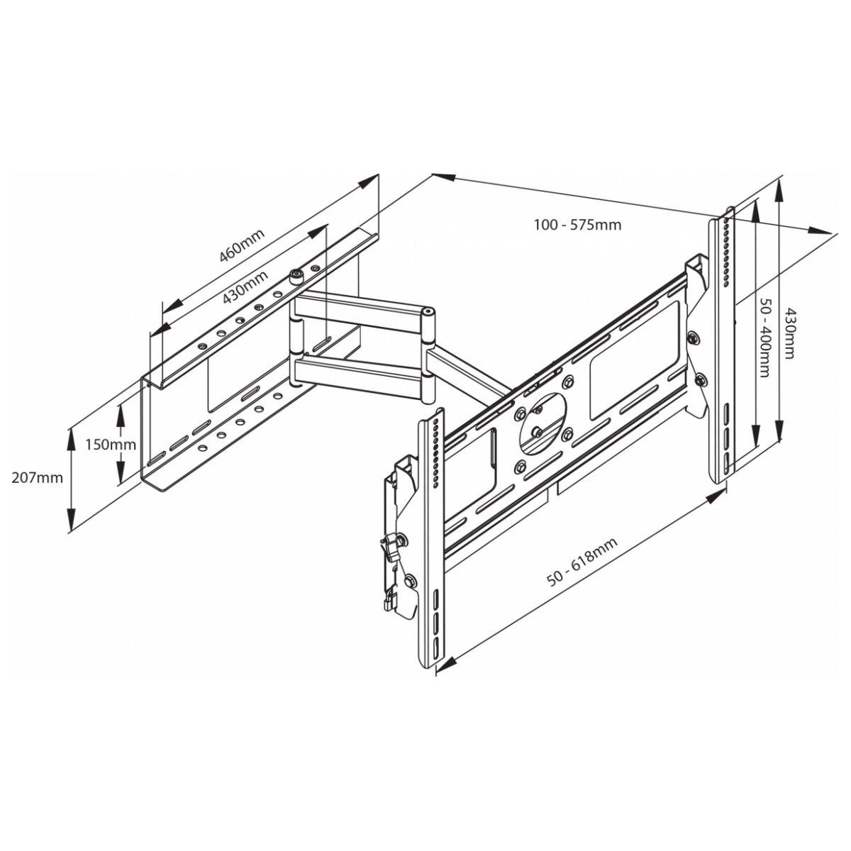 avlink PRC600 uchwyt ścienny do ekranów LCD/plazmy