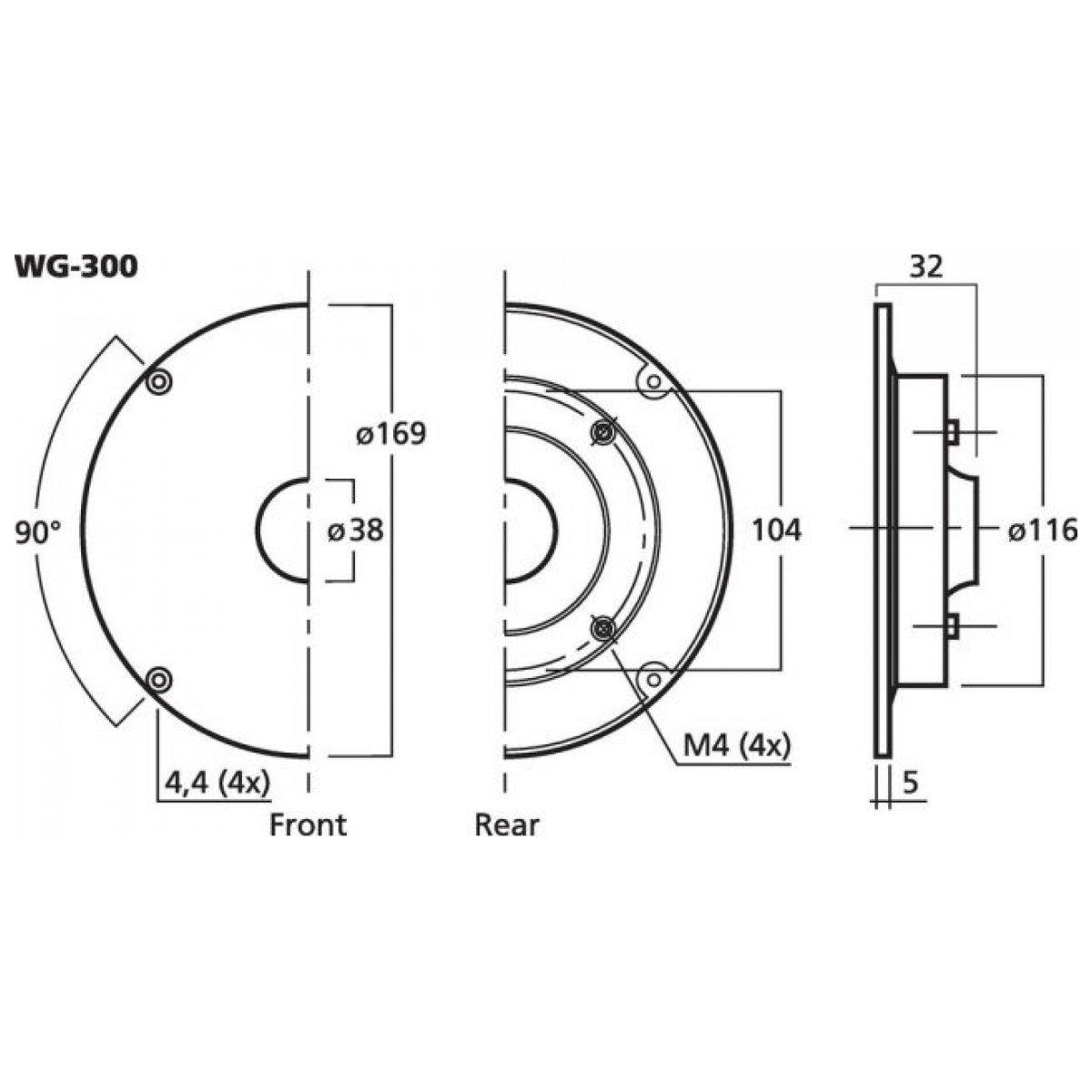 MONACOR WG-300 Specjalna przystawka do zamocowania tuby