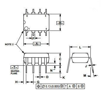 Integrated Circuit Chip Low Power Audio Amplifier MC34119P