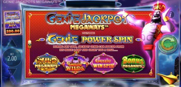 genie jackpots megaways power spin