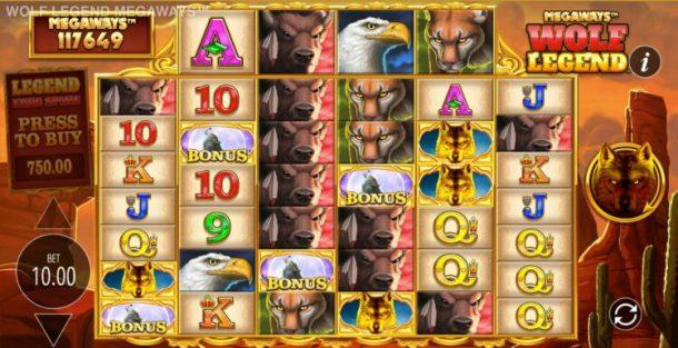 wolf legend slot bonus round