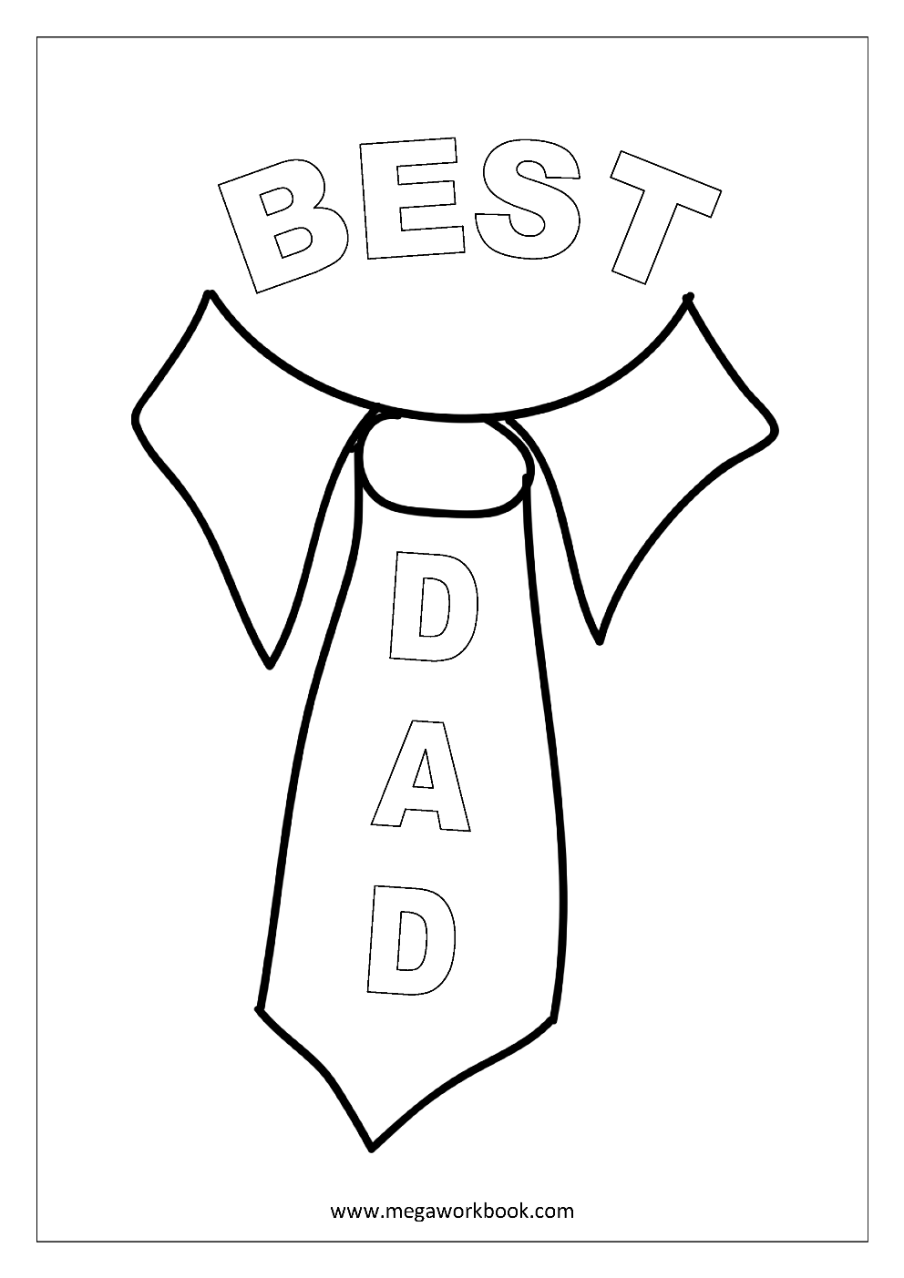 Free Printable Father's Day (Fathers Day) Coloring Pages