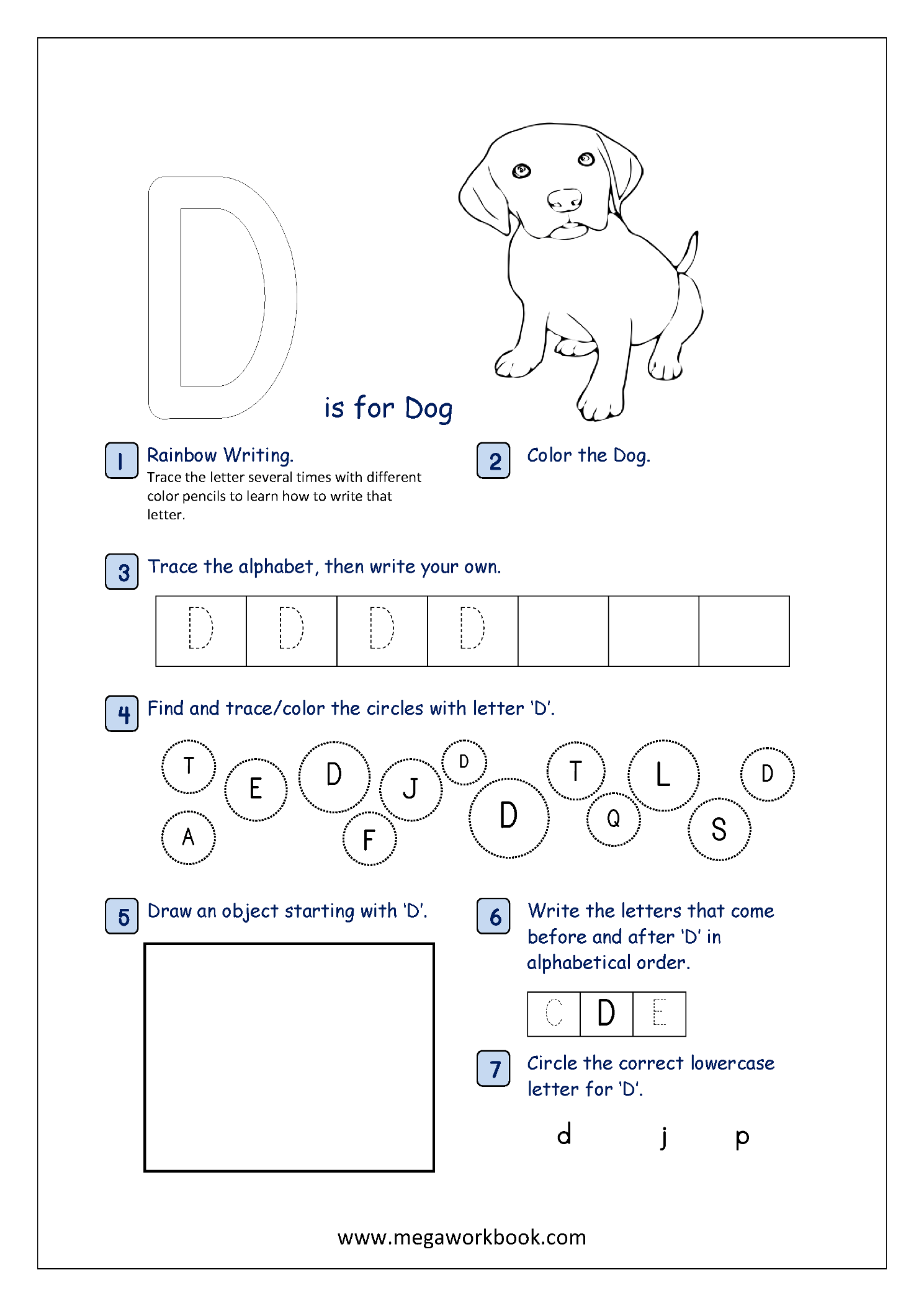 Free Printable Alphabet Recognition Worksheets For Capital
