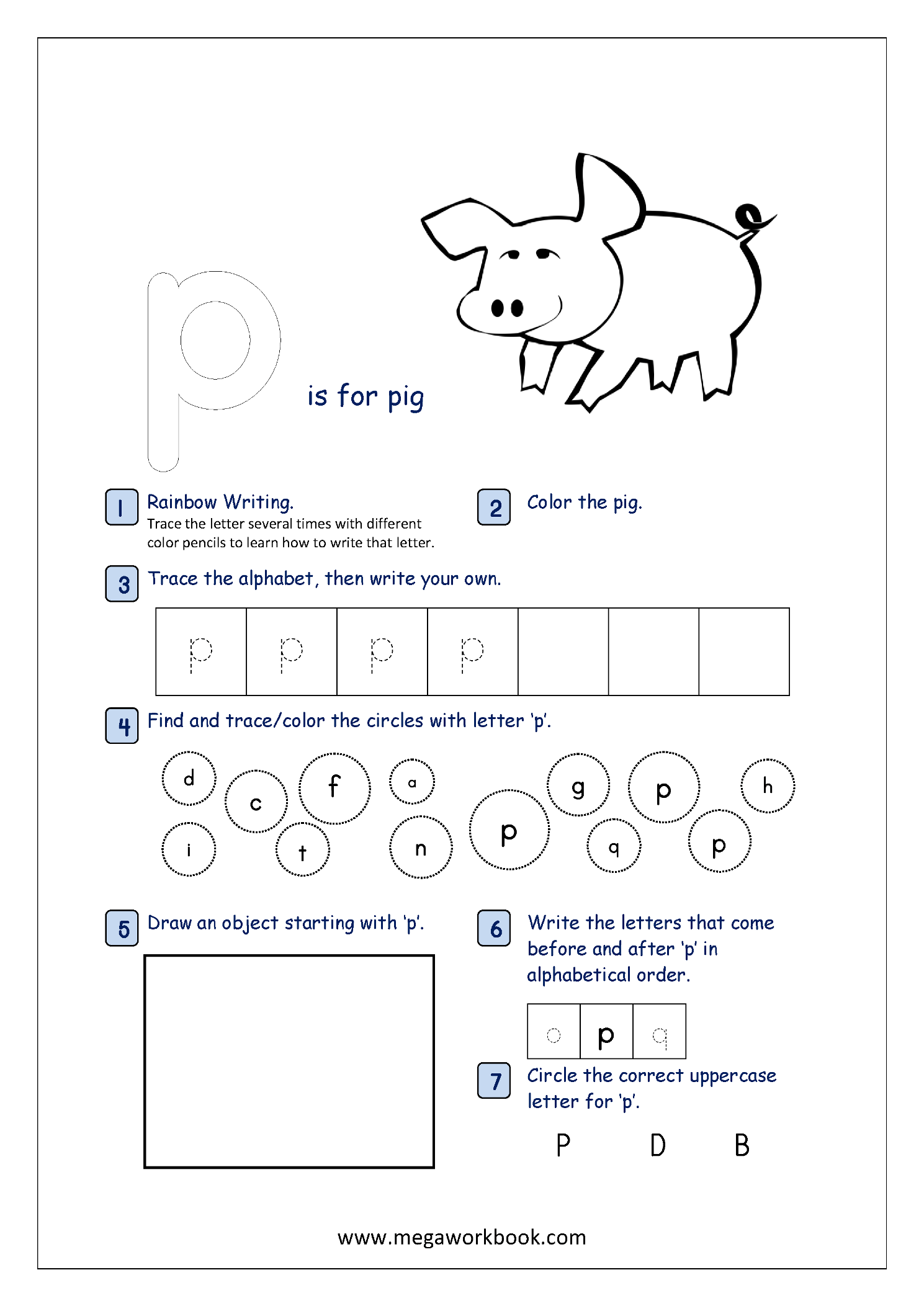 Free Printable Alphabet Recognition Worksheets For Small Letters Lowercase