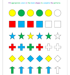 Pattern Worksheets For Kindergarten - Color Patterns - Growing Patterns -  Decreasing Patterns - Repeating Patterns Worksheets - AB [ 1403 x 992 Pixel ]