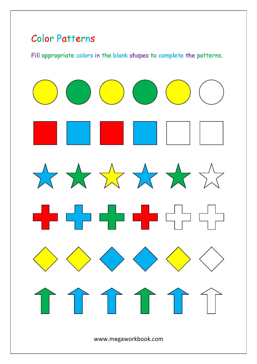medium resolution of Pattern Worksheets For Kindergarten - Color Patterns - Growing Patterns -  Decreasing Patterns - Repeating Patterns Worksheets - AB