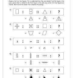 Free Printable Picture Analogy Worksheets - Logical Reasoning - MegaWorkbook [ 1403 x 992 Pixel ]
