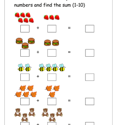 Free Printable Number Addition Worksheets (1-10) For Kindergarten And Grade  1- Addition On Number Line - Addition With Pictures/Objects - MegaWorkbook [ 1403 x 992 Pixel ]