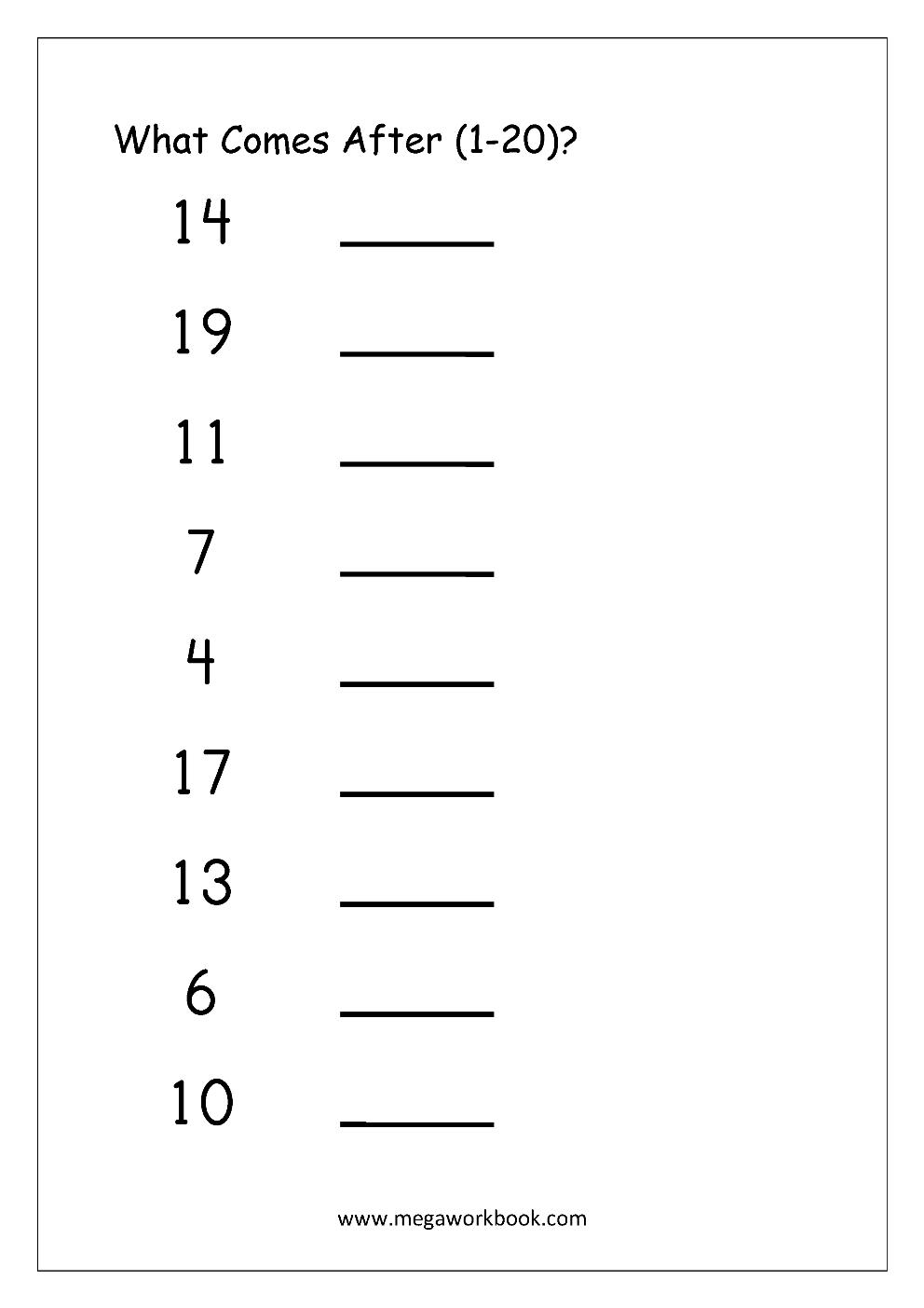 medium resolution of Ordering Numbers Worksheets