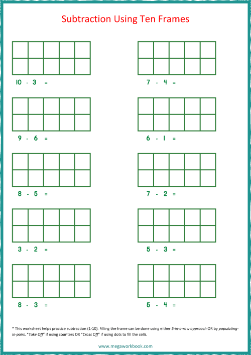 small resolution of Ten Frame Worksheets - Ten Frames - 10 Frames (Counting