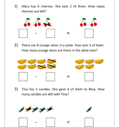 Addition and Subtraction Word Problems Worksheets For Kindergarten and Grade  1 - Story Sums - Story Problems - MegaWorkbook [ 1403 x 992 Pixel ]