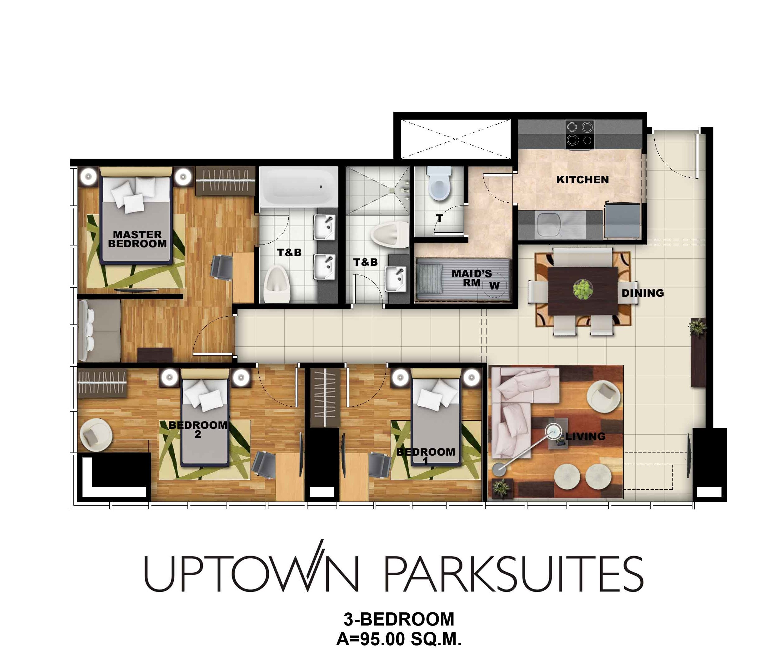 Uptown parksuites 3 bed