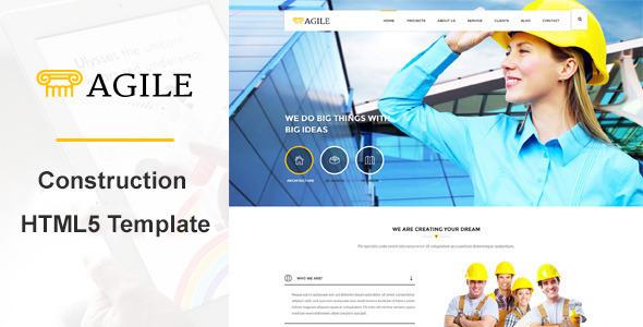 Agile – Building & Construction WordPress Theme