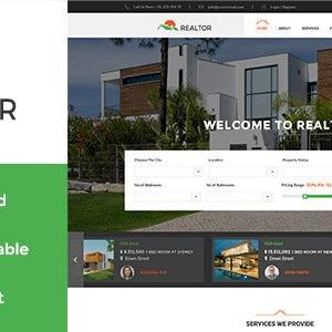 Realtor – WordPress theme for Rental, Real Estate and Property Selling