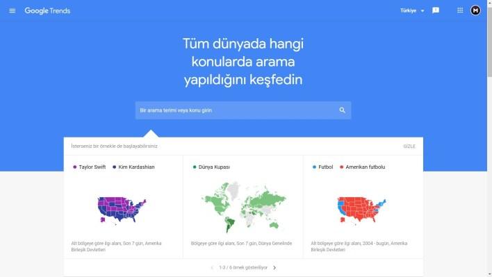 Google'ın Arama Trendler