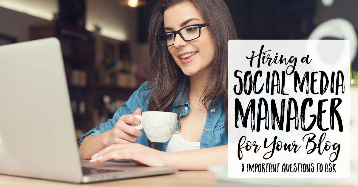 Hiring a Social Media Manager for Your Blog | It's daunting to hand over your blog's social media to a virtual assistant or social media manager. These 8 important things to consider when hiring a social media manager will help you avoid disaster with social networks and their algorithms.