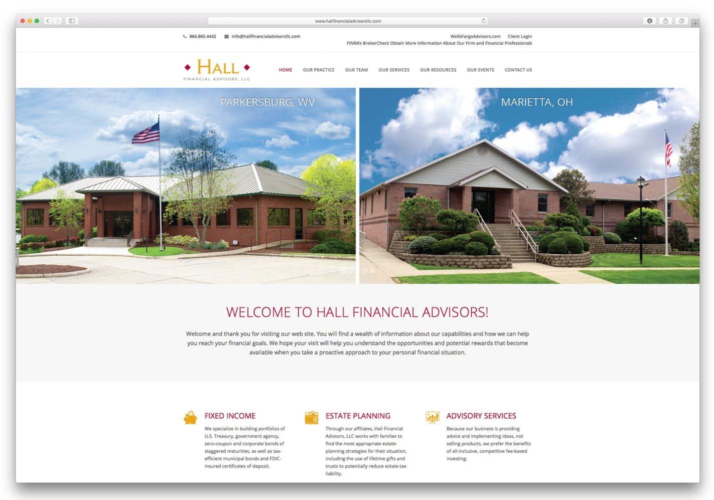 Hall Financial Advisors Website