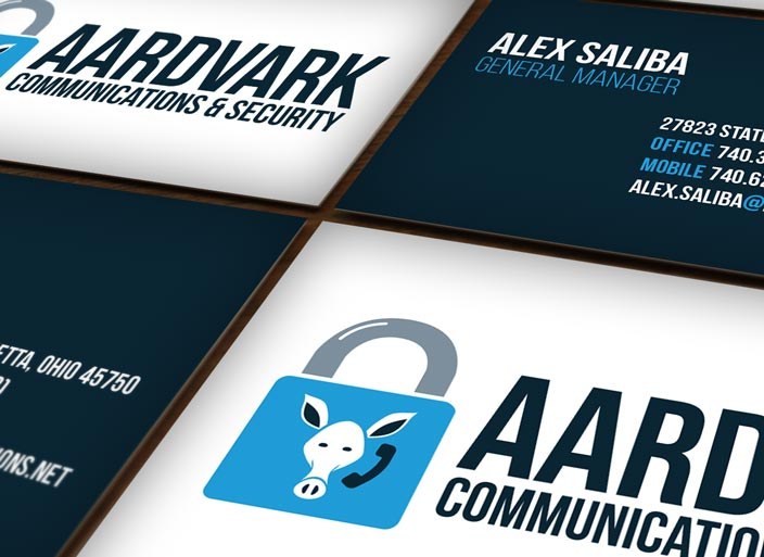 Aardvark Communications & Security Branding