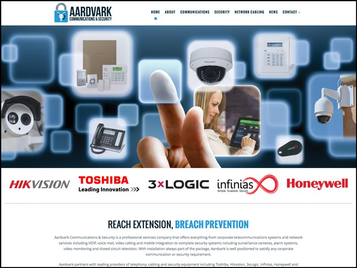 Aardvark Communications & Security Website