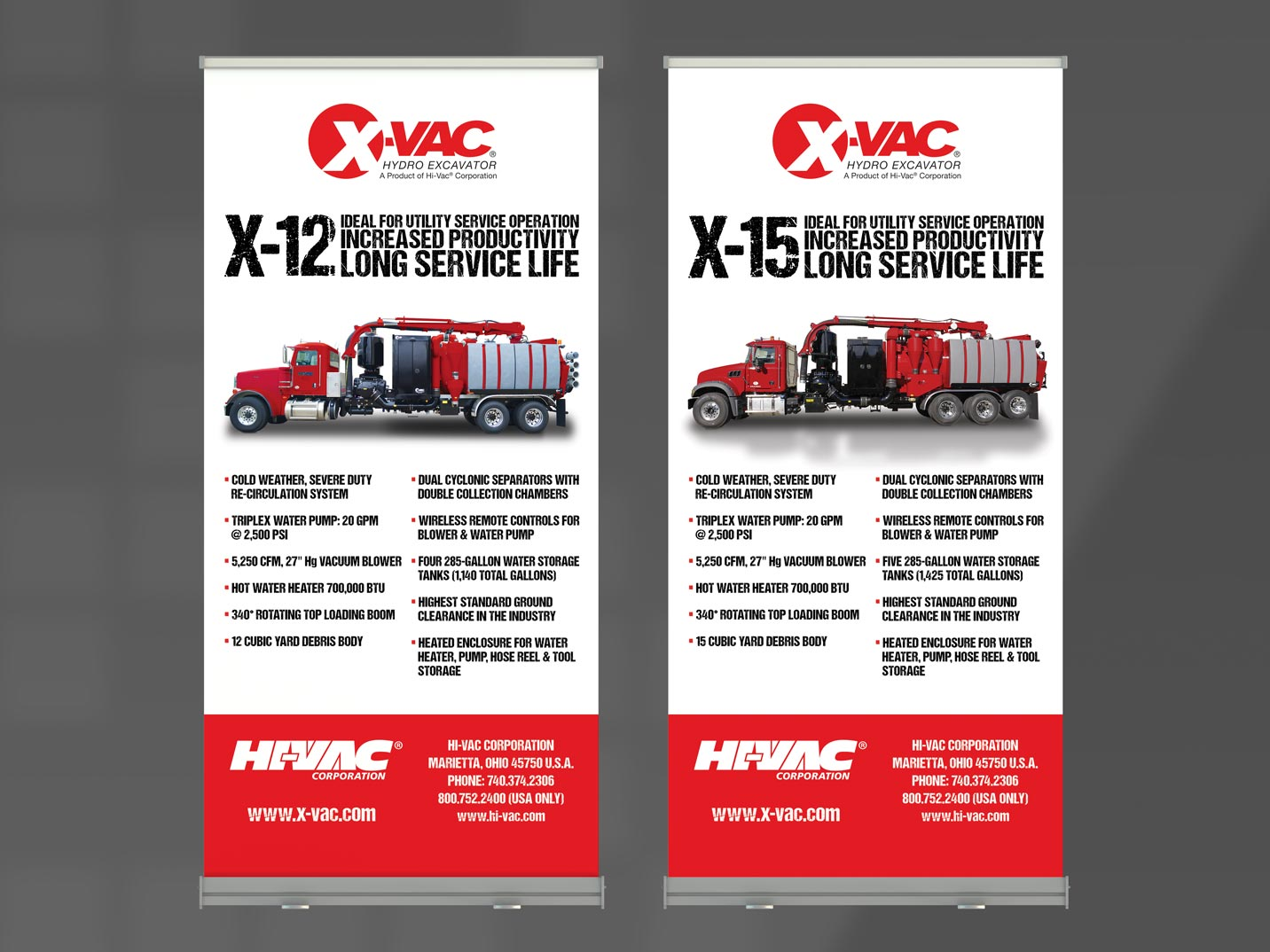 X-Vac Banner Stands
