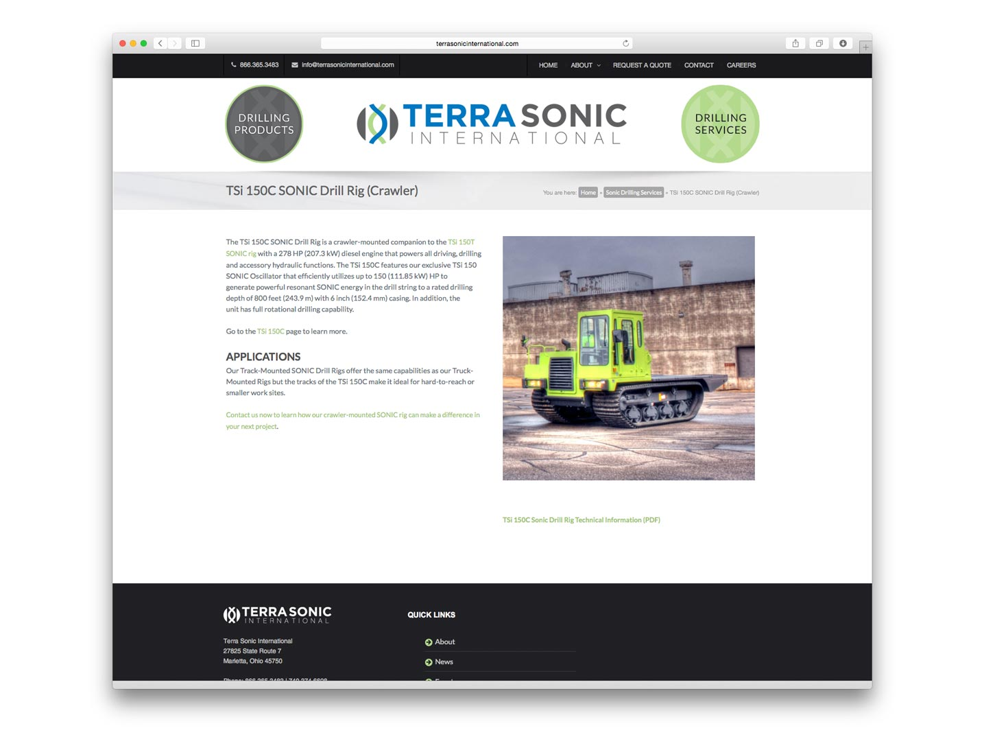 Terrasonic Website