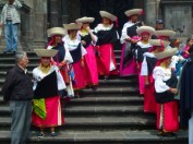 and then these old ladies lead a parade to la ronda