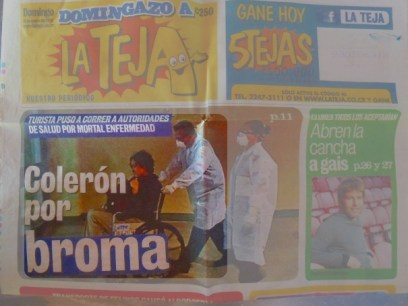 I met the legend who pranked the entire Costa Rican health service by faking cholera! (That's not even close to what happened, but that's what this rag printed: http://m.lateja.co.cr/noticias/20893_coleron-por-broma/30/ & http://m.lateja.co.cr/noticias/20943_buen-simulacro-y-sin--colera/)