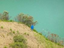 farming / shepherd lady near the lake