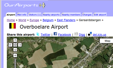 OurAirports tabs, 2009-08-05