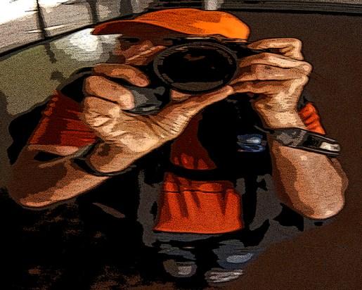 Rick Meghiddo - Self with Orange Hat