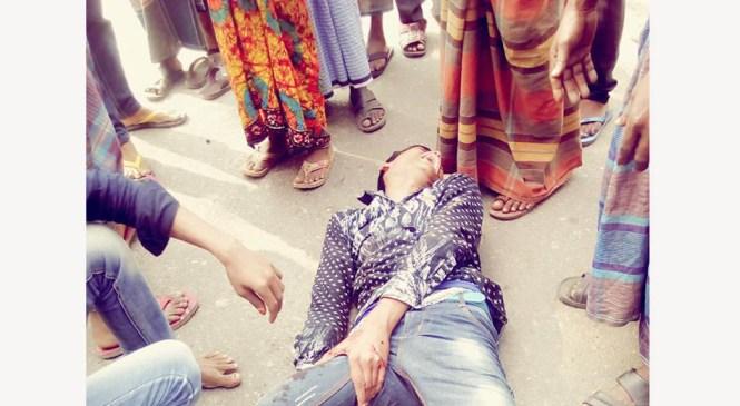 কমলনগরে লেগুনার ধাক্কায় ২ মাদ্রাসা ছাত্র আহত