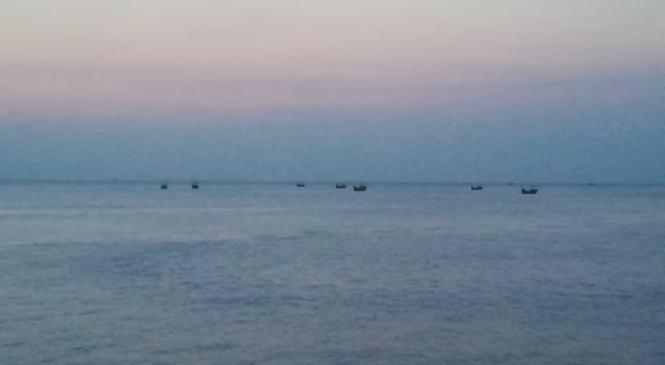 কমলনগরের মেঘনায় নিষেধাজ্ঞা অমান্য করে মাছ নিধন চলছে
