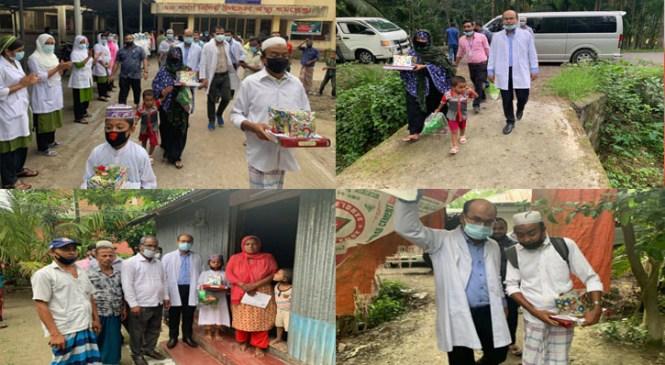করোনা : কমলনগরে সুস্থ্য হওয়া তিনজনকে বাড়ি পৌঁছে দিয়েছেন ডা. রাজিব