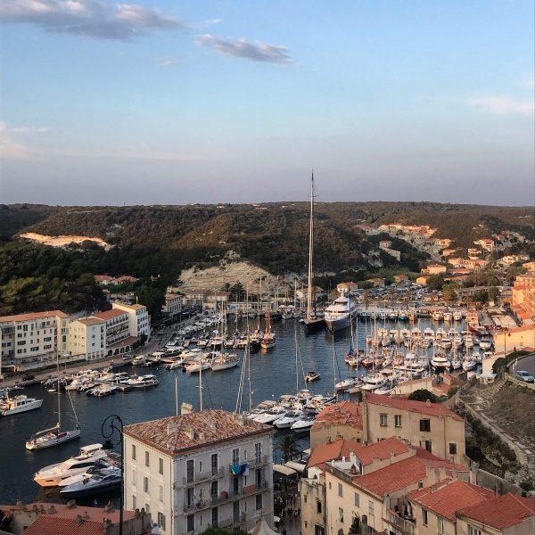 Bonifacio in Corsica dall'alto